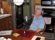 Field recording with George Mitchell, veteran navy airship man