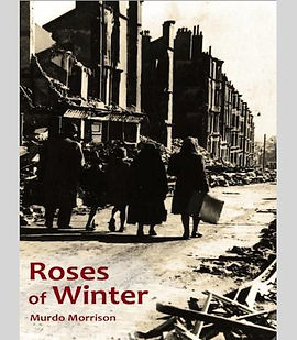 Cover of Roses of Winter. Image: Radnor Street, Clydebank, 1941, courtesy of Clydebank Library Archive.