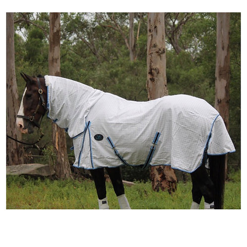 Cotton Combo Diamond Weave Ripstop Horse Rug - Day Sheet