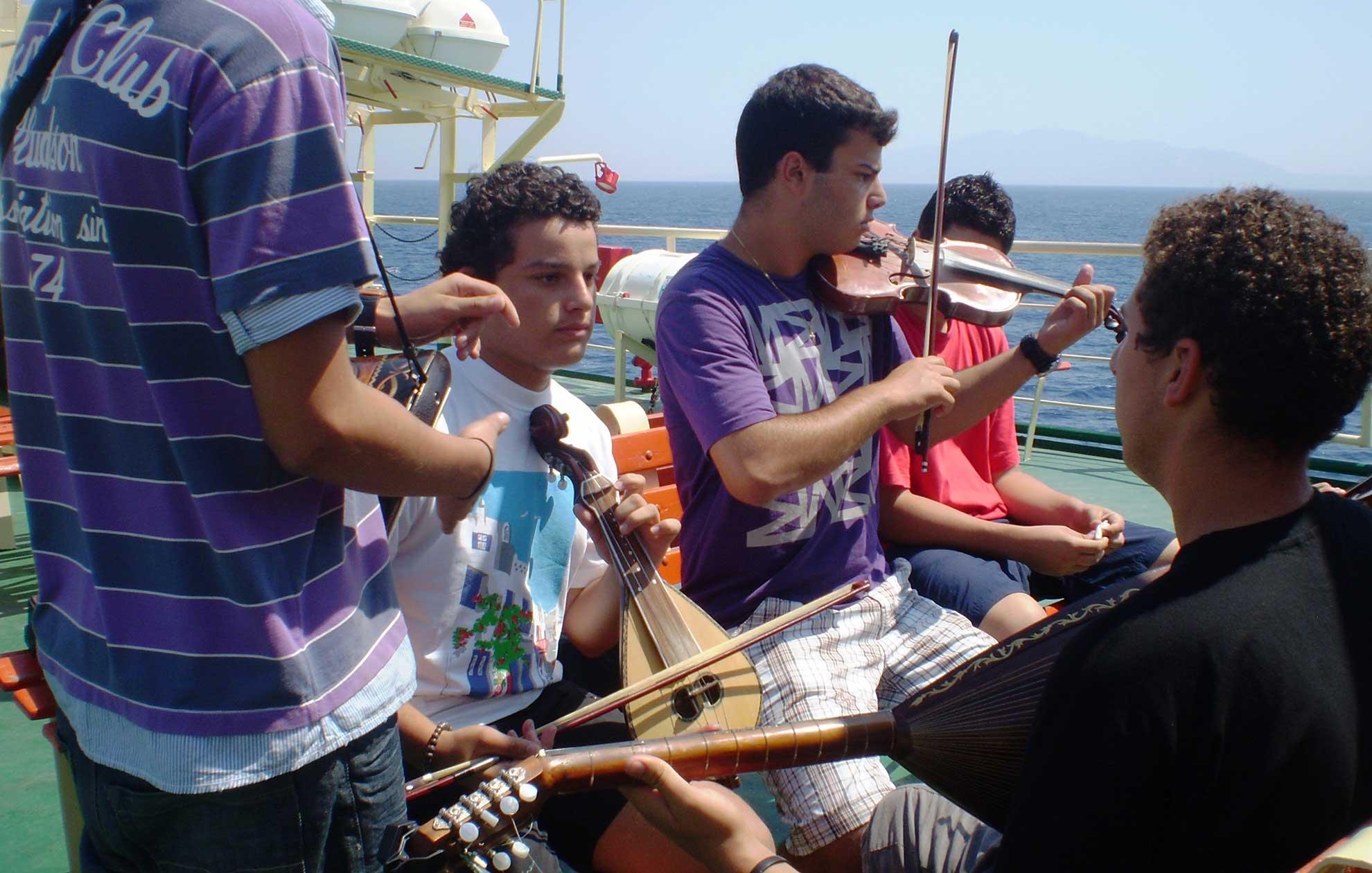 Musicians in Kalymnos
