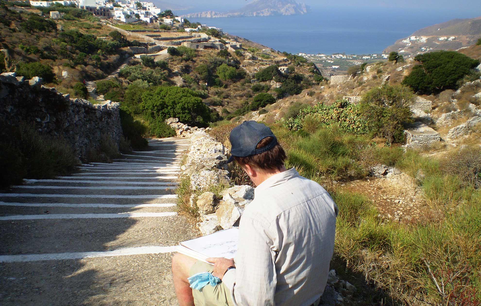 Painting in Amorgos