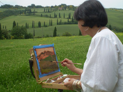 Painting in the fields