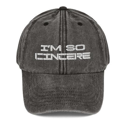 Vintage I'm So Cincere Hat