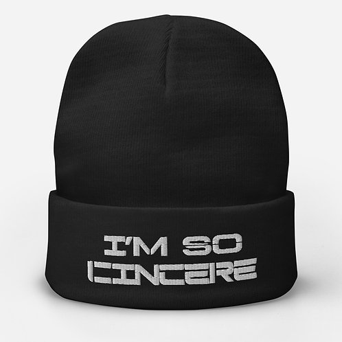ImSoCincere Embroidered Beanie
