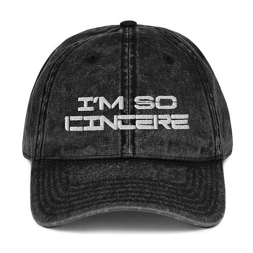 Vintage ImSoCincere Cotton Twill Cap
