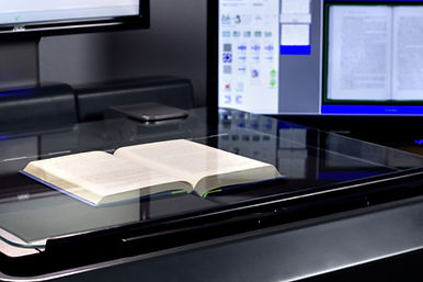 book being scanned