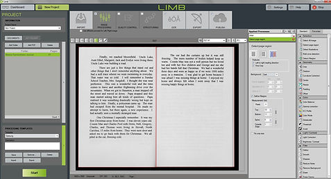 screen grab of LIMB Processing