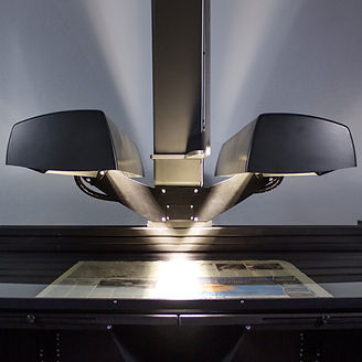 Book scanner scanning newspper