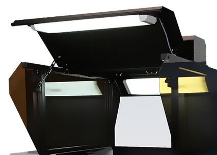 LED lighting on book scanner