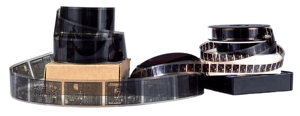 various microfilm rolls