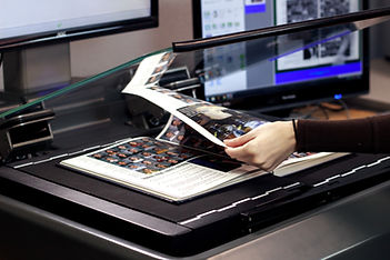 turning page on scanner