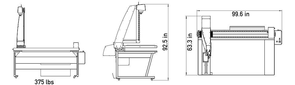 Footprint of QUARTZ A0 book scanner