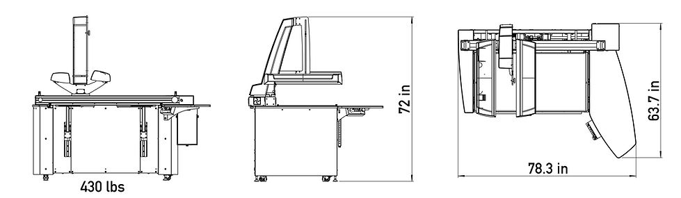 footprint for i2s QUARTZ A1 HD book scanner