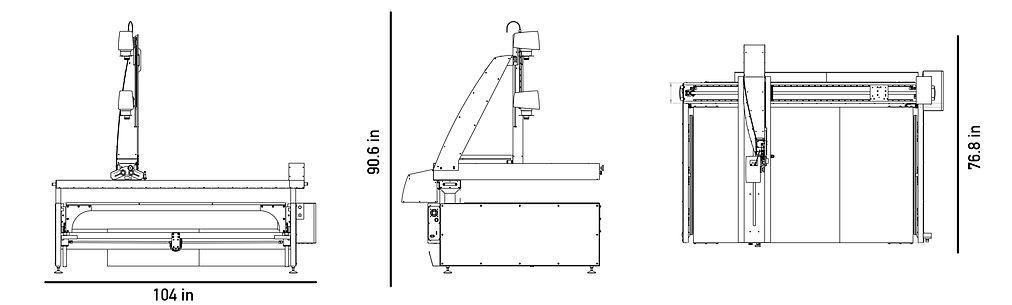 QUARTZ 2A0 book scanner Footprint