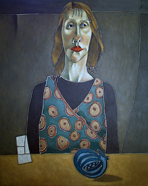 Portrait with Pomegranate