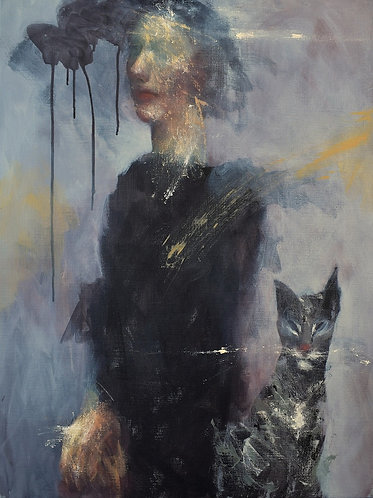 Woman & Cat