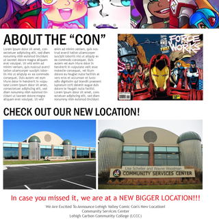 Lehigh Valley Comic Con Website Layout