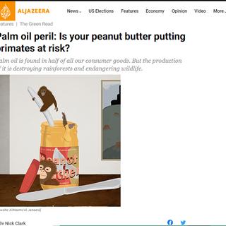 Palm Oil Peril - Peanut Butter Peril