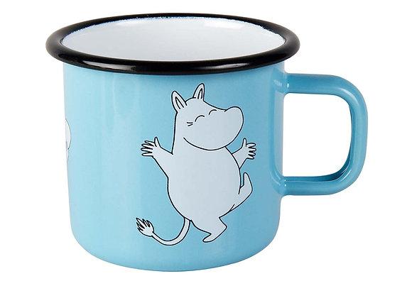 Moomin Enamel Mug Moomin 2,5dl (250ML, 유아용) - Blue
