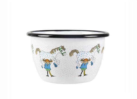 Pippi Enamel Bowl Pippi and the Horse 6dl (600ML)