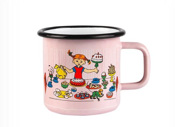 Pippi Enamel Mug, Birthday Party 3,7DL (370ML)