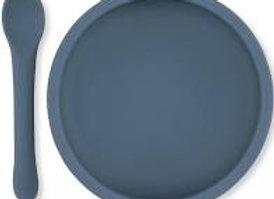 Silicone Suction Plate - Blue