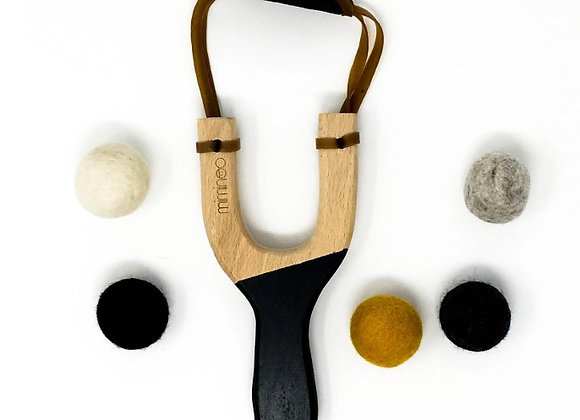 Wooden Slingshot Black