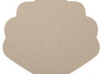 Clam Silicone Placemat - Warm Grey