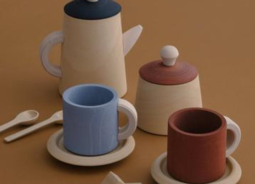 Tea Set- Terra and Blue
