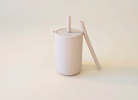 Tall Straw Cup -Oatmeal