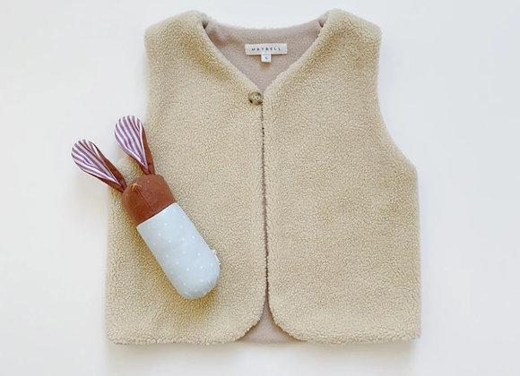 Maybell Studio Sherpa Vest Ivory
