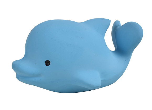 Dolphin - Natural Rubber Rattle