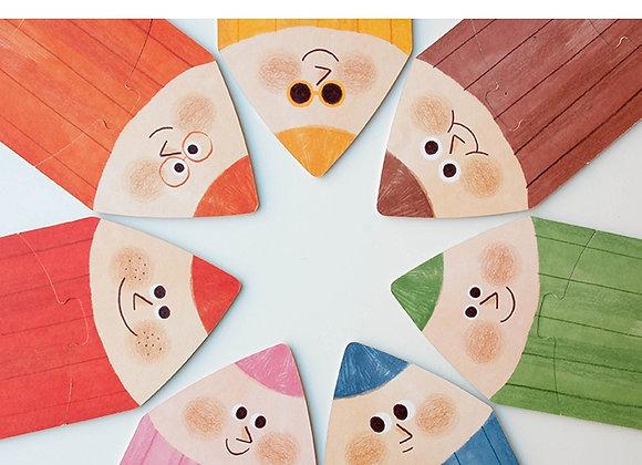 I Love My Colors Reversible Puzzle - 21 pcs