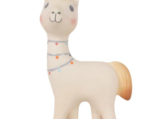 The Llama Natural Rubber Rattle Toy