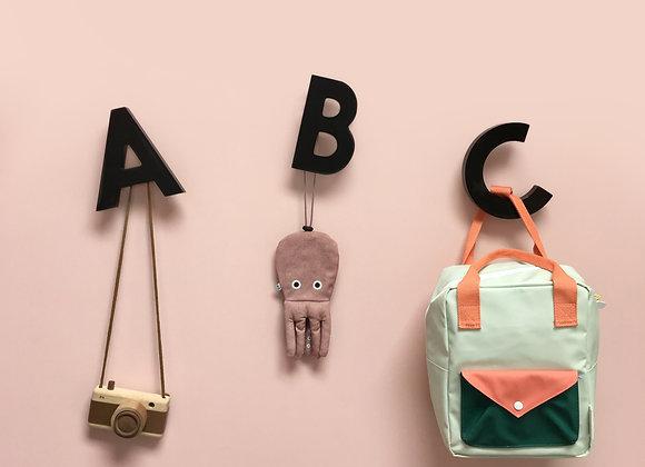 Alphabet Soup Wall Hooks - ABC (Black)