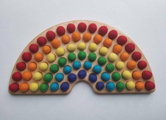 Rainbow Color Sorting Board