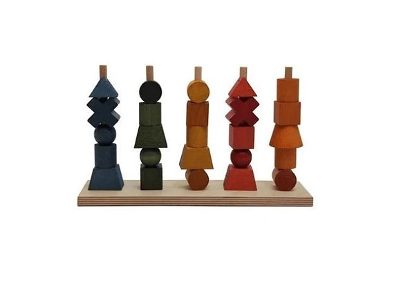 Rainbow Wooden Stacking Toy