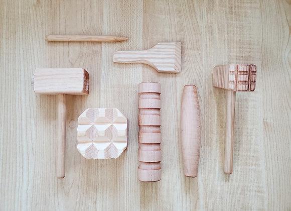 Wooden Playdough Tools