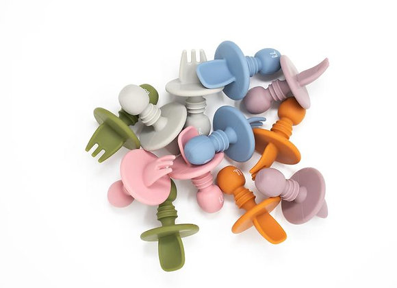 Mini Spoon and Fork Set (미니 실리콘 스푼/포크 세트)