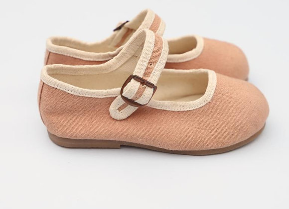 Small Lot Co. Mary Jane Shoes- Pale Pink