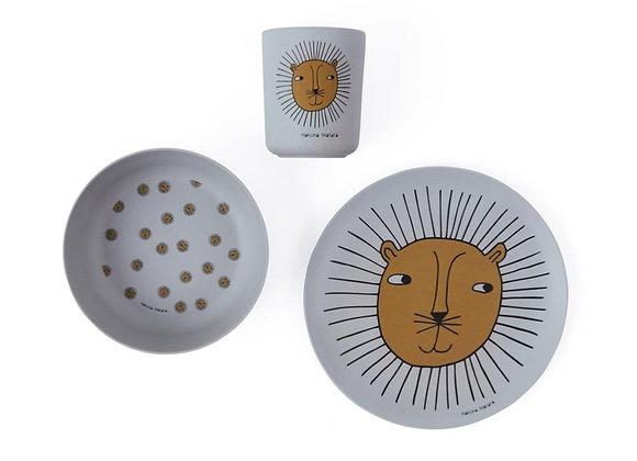 Bamboo Tableware Set - Lion
