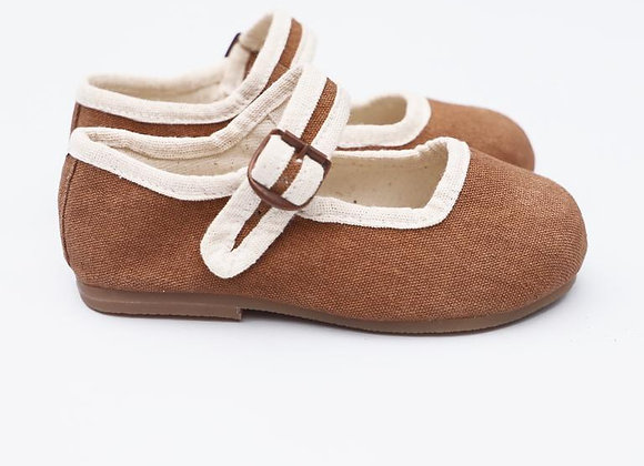 Small Lot Co. Mary Jane Shoes- Rust