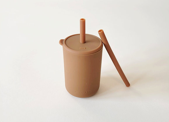 Tall Straw Cup - Cocoa
