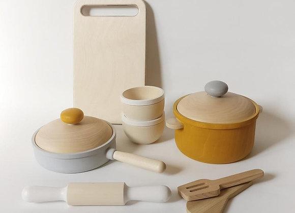 Mini Wooden Cookware Set