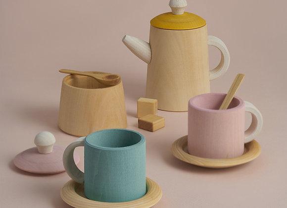 Tea Set- Mustard and Pink