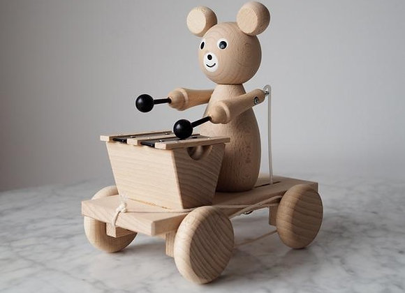 Henry - Pull Along Wooden Bear with Xylophone