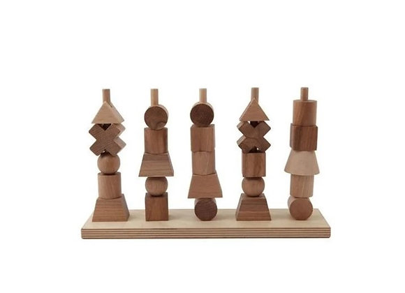 Natural Wooden Stacking Toys