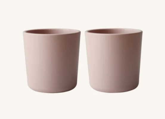 Mushie Dinnerware Cup, Set of 2 (Blush)