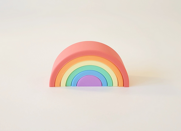 Rainbow Silicone Stacking Toy - 6 layers