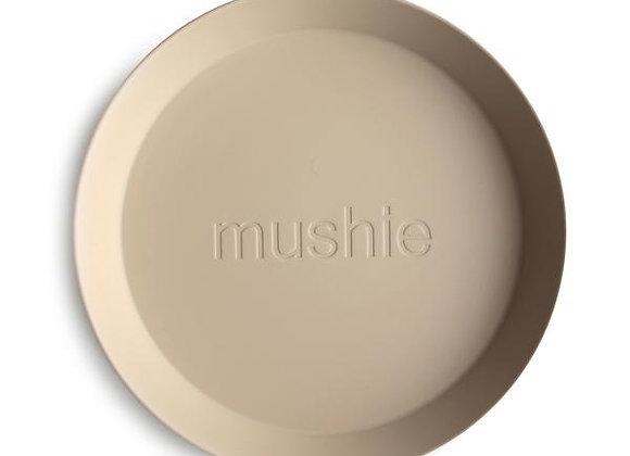 Round Dinnerware Plates, Set of 2 (Vanilla)